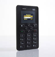 Телефон Мини /Card Phone Mini M5 Black, фото 1