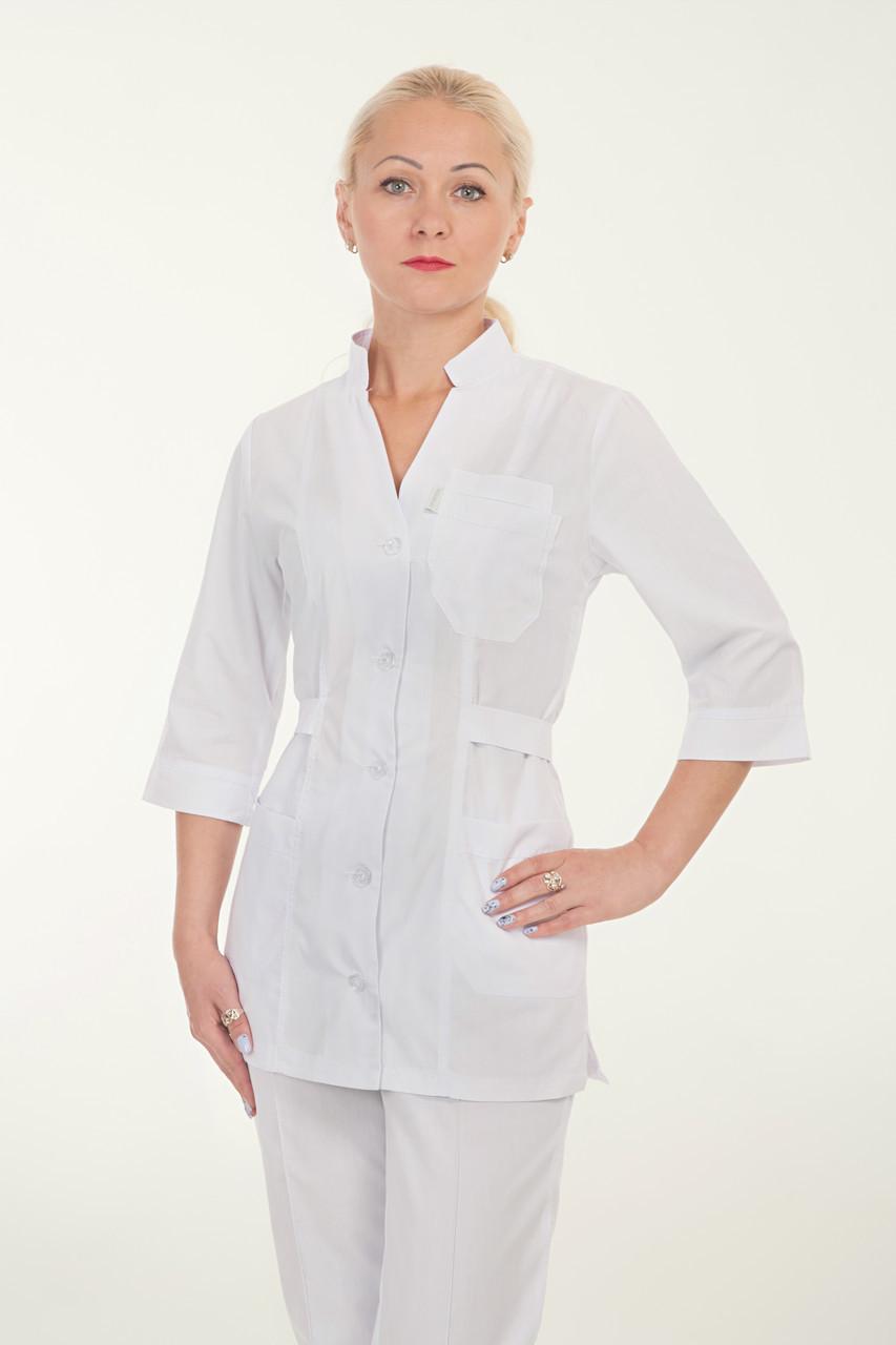 Медицинский женский костюм на пуговицах батист 42-58р. Хелслайф
