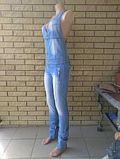 Комбинезон летний джинсовый стрейчевый реплика VERSACE, фото 2