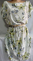 Платье с цветочным принтом женское (креп-софт)