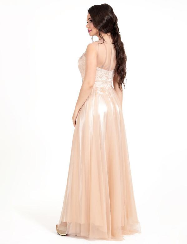 Сукня капучіно вечірнє, фото 3