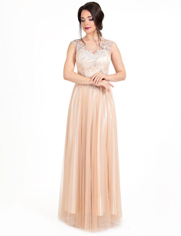 Плаття жіноче капучіно вечірнє ENIGMA MKENG 2212