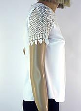 біла блузка з кружевом  Esay, фото 2