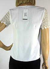 біла блузка з кружевом  Esay, фото 3