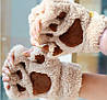 Бежевые перчатки в виде лапок, фото 2