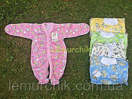 Человечек для новорожденного (хлопок 100%, кулир), розовый
