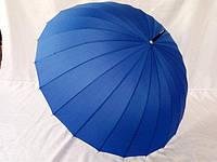 Однотонный женский зонт трость на 24 спицы, фото 1