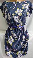 Платье с цветочным принтом/ бабочками женское (креп-софт)