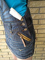 Сарафан, юбка-комбинезон летняя джинсовая  BONNY JEANS, фото 3