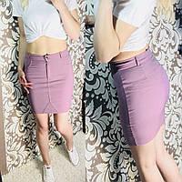Женская юбка джинсовая цвет фрез