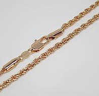 Цепочка плетение Ручеек 60 см H-3 мм под советское золото