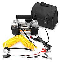 12V 150psi 85L / min Портативный воздух Насос Авто Авто Двойной цилиндровый компрессорный шиномонтажный инфлятор