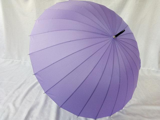 Однотонный женский зонт трость на 24 спицы