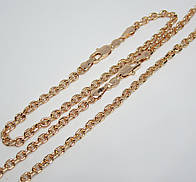 Цепочка+ браслет плетение Якорное 60 см H-3.5 мм браслет 20 см под советское золото