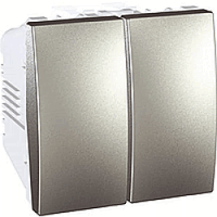 MGU3.211.30 Вимикач 2-клавішний, алюміній Schneider Electric Unica