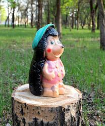Еж в шляпке - садовый декор, керамика (629)