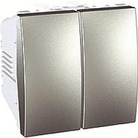 MGU3.213.30 Вимикач прохідний 2-клавішний, алюміній Schneider Electric Unica