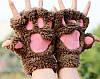 Коричневые лапки перчатки, фото 4