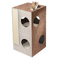 CAT TREE KUBO 2 Ferplast Домик для кошек с когтеточкой и зонами для отдыха и игр. Деревянная конструкция