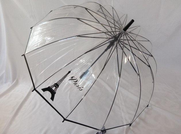 Жіночий парасольку прозорий на 14 спиць
