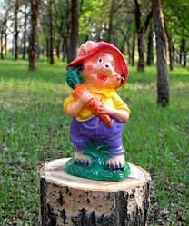 Заяц с морковью - садовый декор, керамика