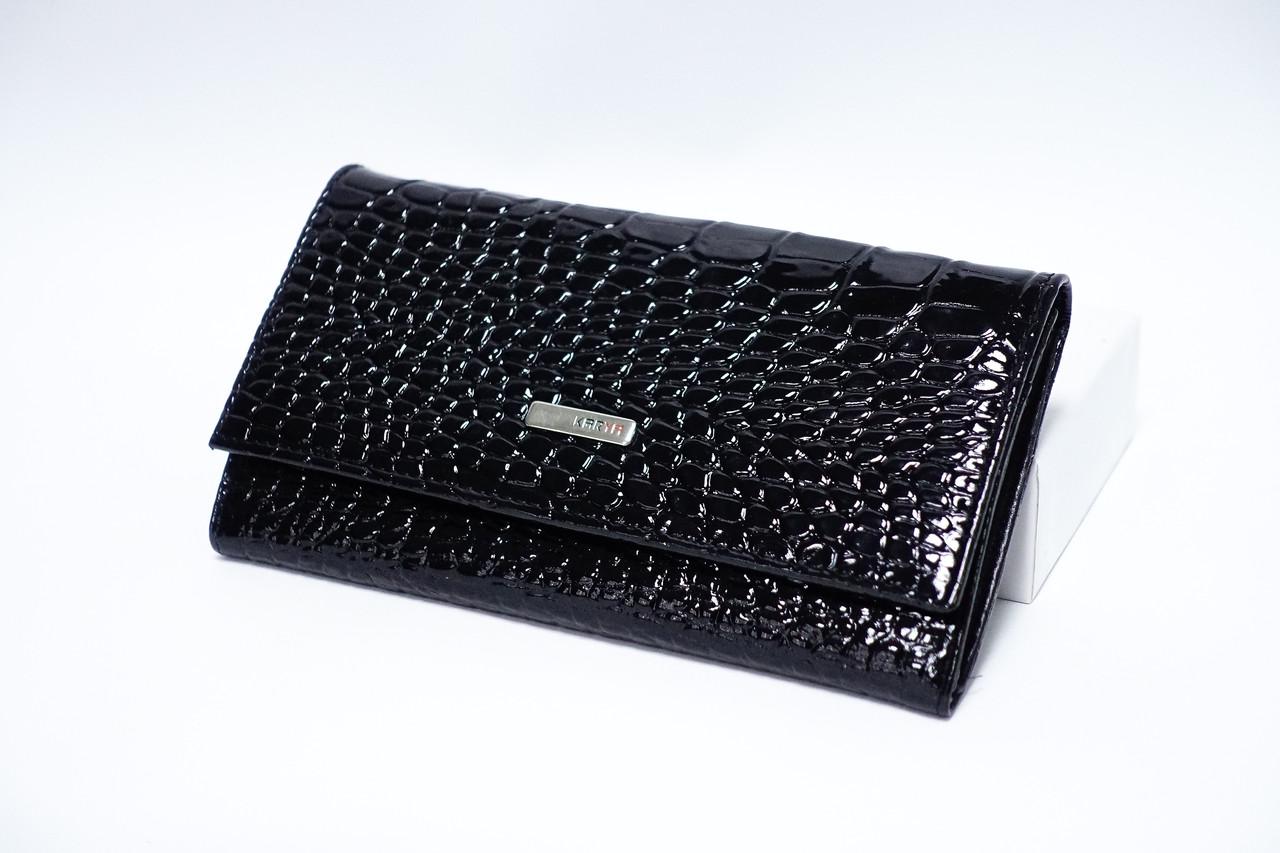 Кожаный кошелек Karya 1116-06 black