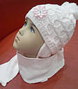 Комплект зимний: шапка, шарф и варежки, фото 2