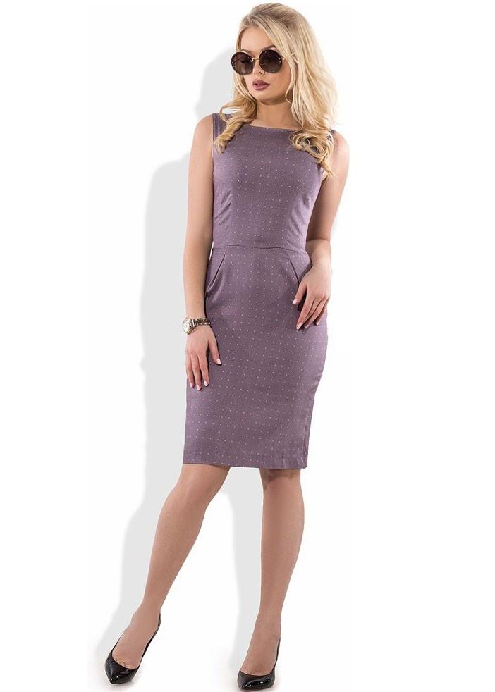 Стильное платье футляр из коттона Д-1281