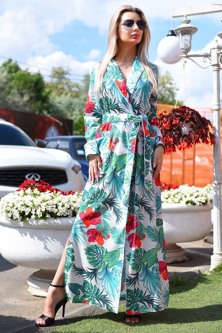 54844062912 Женское платье-халат в пол -