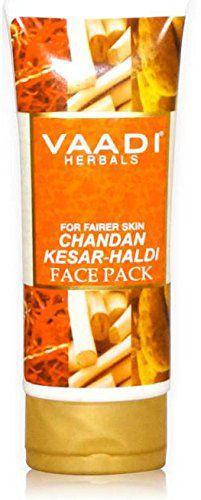 Маска отбеливающая для лица с шафраном и сандалом 120мл. Ваади. Chandan Kesar Haldi Fairness Face Pack Vaadi