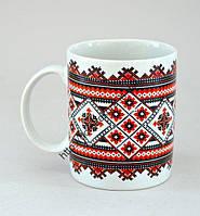 """Чашка 400мл. Белая с Деколью """"Гжель"""", фото 1"""
