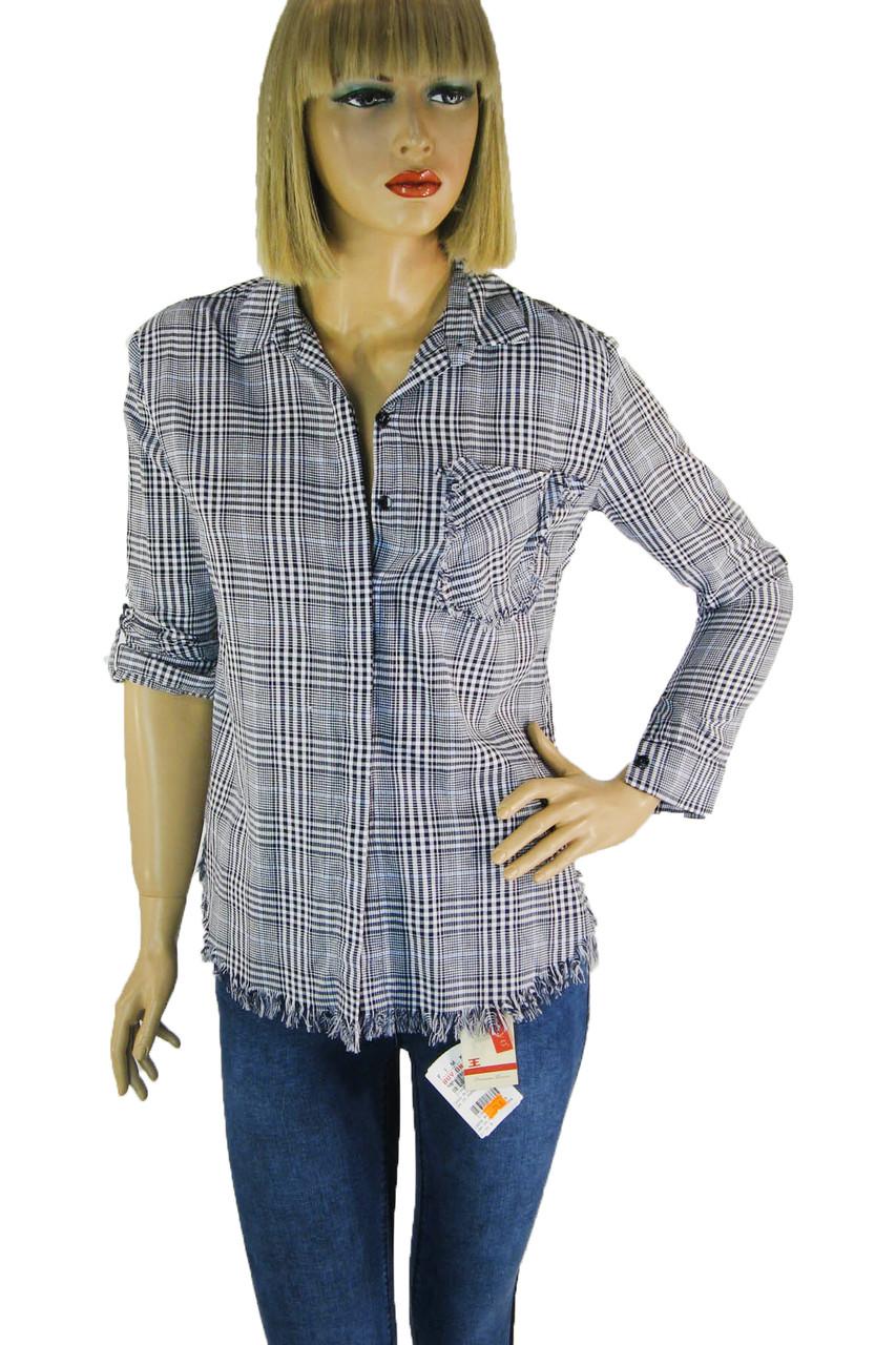 Жіноча сорочка в клітинку