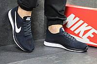 Мужские кроссовки Nike Flyknit Racer Dark Blue [копия]