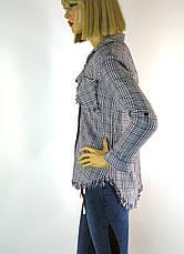 Жіноча сорочка в клітинку , фото 3