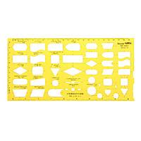 Схема потока Таблица технологических схем Символы Рисунок Шаблон KT Soft Пластиковый линейка Дизайн Board - 1TopShop