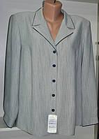 Женская блуза с длинным рукавом серого цвета, фото 1