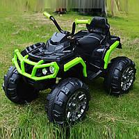 Детский электромобиль-квадроцикл Т-737 салатовый деткам 3-8 лет