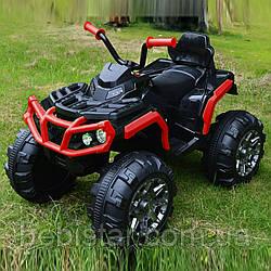 Детский электромобиль-квадроцикл красный с двумя моторами и MP3 аккумулятор 12V7AH от 3 до 8 лет