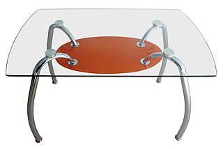 Стол обеденный С-32 (TB156) Хром закалённое стекло, фото 3