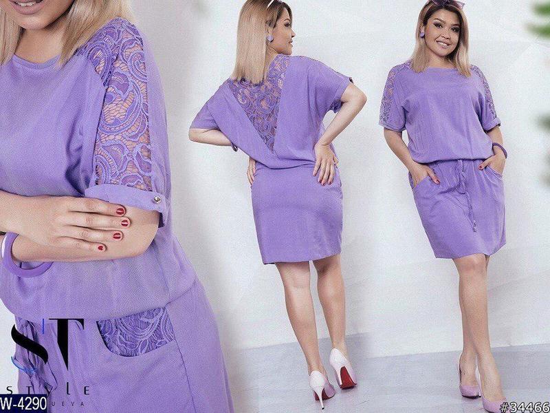 Летнее женское платье штапель раз. 50,52,54,56