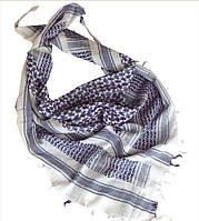 Арафатка-шемаг из 100% хлопка 110*110см бело-голубая Mil-tec Германия