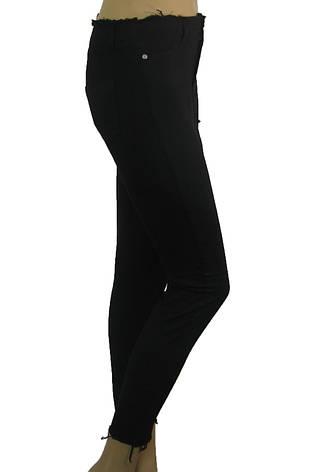 Жіночі  джинси з високою талією і необробленим поясом, фото 2