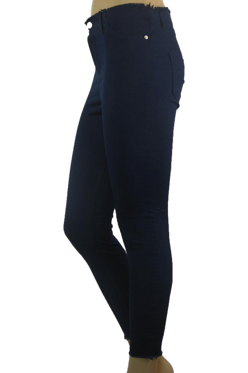 Жіночі  джинси з високою талією і необробленим поясом