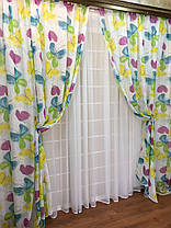 """Шторный набор """"Бабочки"""", декорат. шторы + тюль, фото 3"""