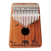 Джонас 17 клавиш Фингер Калимба Thumb Piano Mahogany Wood African Percussion Музыкальные подарки