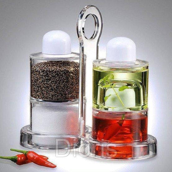 Набор для масла, уксуса, перца и соли. Spice Jar. O.V.S.P.