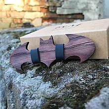 Галстук-бабочка I&M Craft из дерева в форме знака Batman (011201)