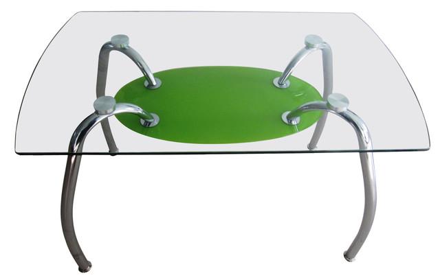 Стол обеденный С-32 (TB156) Хром закалённое стекло (1100х650х750 см.) салатовый.