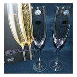 Grandioso набор бокалов для шампанского 230 мл.-2 шт  Bohemia 40783/230, фото 2