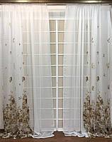 Декоративные шторки из льна Батик